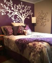 purple and brown bedroom sand coloured bedroom with an accent wall google search