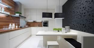 cuisine blanc laqué cuisine bois et blanc laque blanche plan de travail homewreckr co