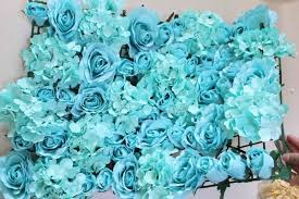 teal flowers spr free shipping blue teal 10pcs lot artificial silk