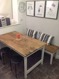 Best Dining Bench Images On Pinterest Dining Table With - Kitchen bench with table