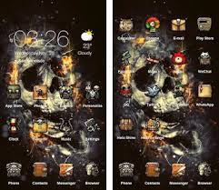 skull apk the flaming skull best theme apk version 4 0 2