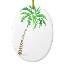 palm trees pattern ornaments keepsake ornaments zazzle