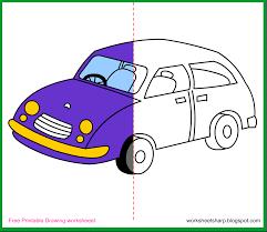 free drawing worksheets printable car drawing worksheets