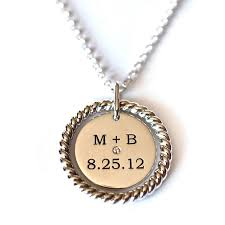 custom engraved necklace the m b necklace custom jewelry abby sparks jewelry