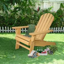 Adirondack Bench Outdoor Natural Fir Wood Adirondack Chair Sunloungers Outdoor