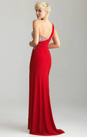 buy tailor made side slit beaded crystals one shoulder red prom