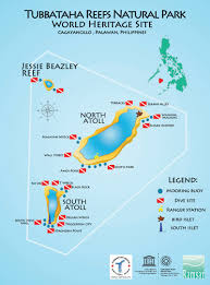 Map Of Coral Reefs Tubbataha Diving Information Scuba Diving Resource