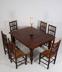 antique extendable victorian english oak dining table for sale at