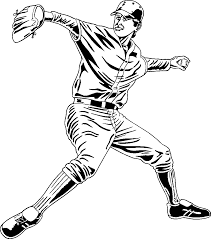 pitcher baseball coloring page ball pages of kidscoloringpage