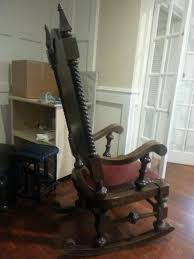 Old Rocking Chair Appraising An Old Wooden Rocking Chair That U0027s Heavy And 5 U00276