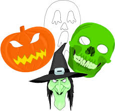 free spooky halloween mask printables