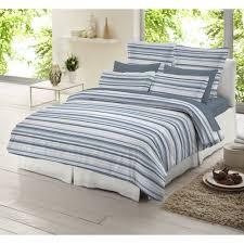 dormisette blue and white striped 100 brushed cotton duvet cover