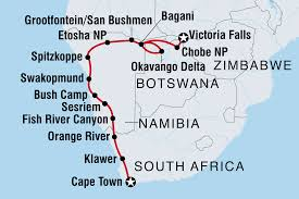 Victoria Falls Map Cape Town To Vic Falls Namibia Tours Intrepid Travel
