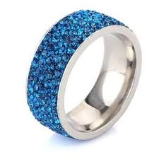 blue crystal rings images Blue crystal ring jpg