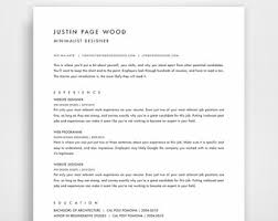 One Page Resume Sample by One Page Resume Etsy