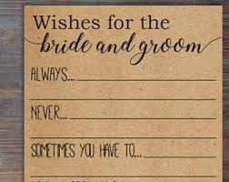 Advice To Bride And Groom Cards Wishes For The Bride Etsy