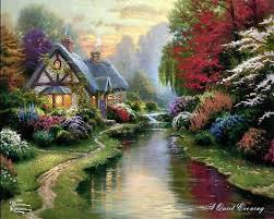 288 best kinkade paintings images on