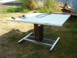 Hamilton Vr20 Drafting Table Hamilton Electric Adjustable Drafting Table 50 X 37