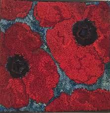 port greville poppies hooked rug u2013 deanne fitzpatrick rug hooking