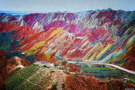 rainbow mountains in china u0027s danxia landform geological park are