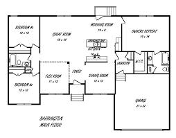 Barrington Floor Plan Barrington House Plan Schumacher Homes