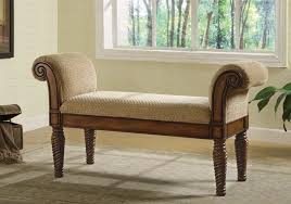 livingroom bench coaster rolled arm accent bench 100224