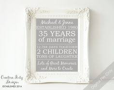 35 anniversary gift 35th anniversary gift personalized anniversary gift for parents