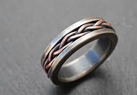 braided ring buy a crafted viking wedding band braided ring two tone