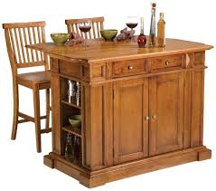 oak kitchen furniture home styles 5004 948 distressed oak kitchen island and stools