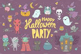 happy halloween image cute happy halloween pattern illustrations creative market