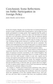 conclusion some reflections on public participation in foreign