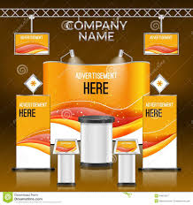 exhibition stand design stock vector image of poster 44813527