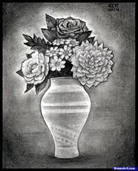 Draw A Flower Vase How To Draw Realistic Flowers Step By Step Realistic Drawing