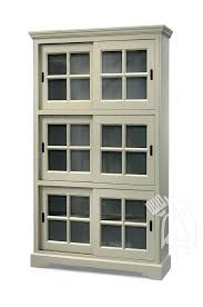 Vintage Bookcase With Glass Doors Vintage Bookcase Pine Wood Vintage Louvre Bookcase With