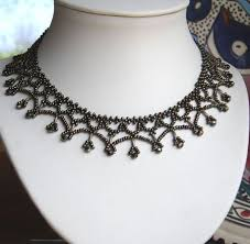 lace necklace patterns images Free beading pattern horizontal lace netting featured in bead jpg