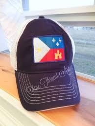 acadian flag louisiana state mesh back baseball cap hat