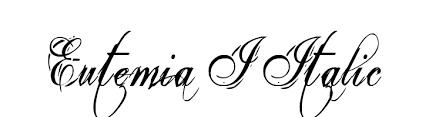 free calligraphic fonts on ffonts net like eutemia i italic