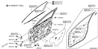 subaru cvt diagram 80283 4ca0a molding front door sash front lh x trail nissan