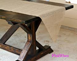 how to make a no sew burlap table runner burlap table runners