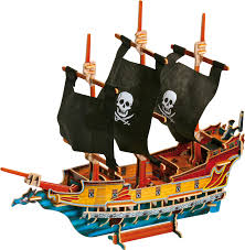 3d puzzle pirate ship