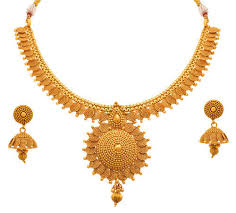 earring necklace set gold images Jfl gold one gram gold plated spiral necklace set with earrings jpg