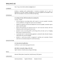 Accounting Assistant Resume Samples by Resume Sample For Accounting Assistant Free Resume Example And
