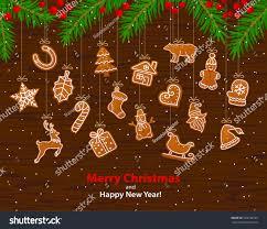 merry happy new year winter stock vector 520198723