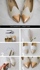 Spray Paint Your Shoes - diy heart flats great diy and home solution ideas pinterest