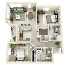 3d apartment 20 awesome 3d apartment plans with two bedrooms part 2