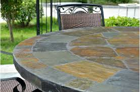 slate outdoor dining table granite outdoor tables round top slate outdoor stone patio dining