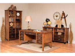 Double Pedestal Desk With Hutch by Martin Home Furnishings Home Office Half Pedestal Desk Imhe660