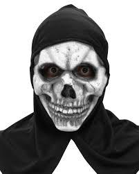 halloween skeleton masks skeleton mask with hood for halloween horror shop com