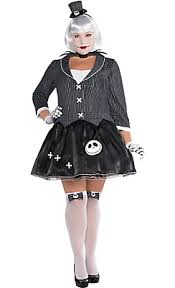 Jack Skeleton Costume Lady Jack Skellington Costume Plus Size Nightmare Before