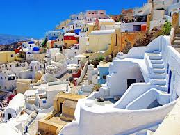 Colorful City Wedding Pictures In Santorini Colorful City Of Greece World Visits